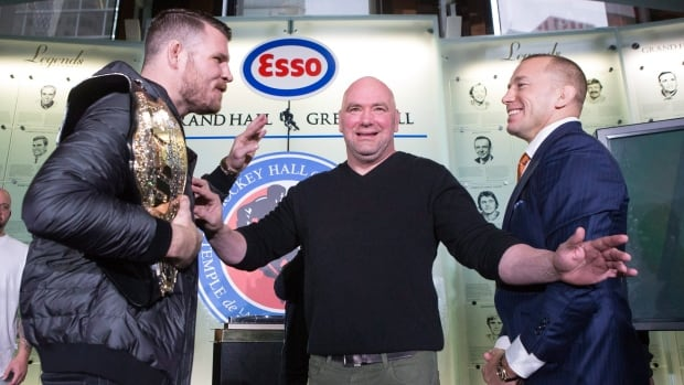Michael Bisping, Georges St-Pierre Have Heated Staredown