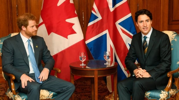 Potential future Canadian Prince Harry with Prime Minister Justin Trudeau. Rather than joining the teetering North America Free Trade Agreement, maybe the U.K. should become part of Canada.