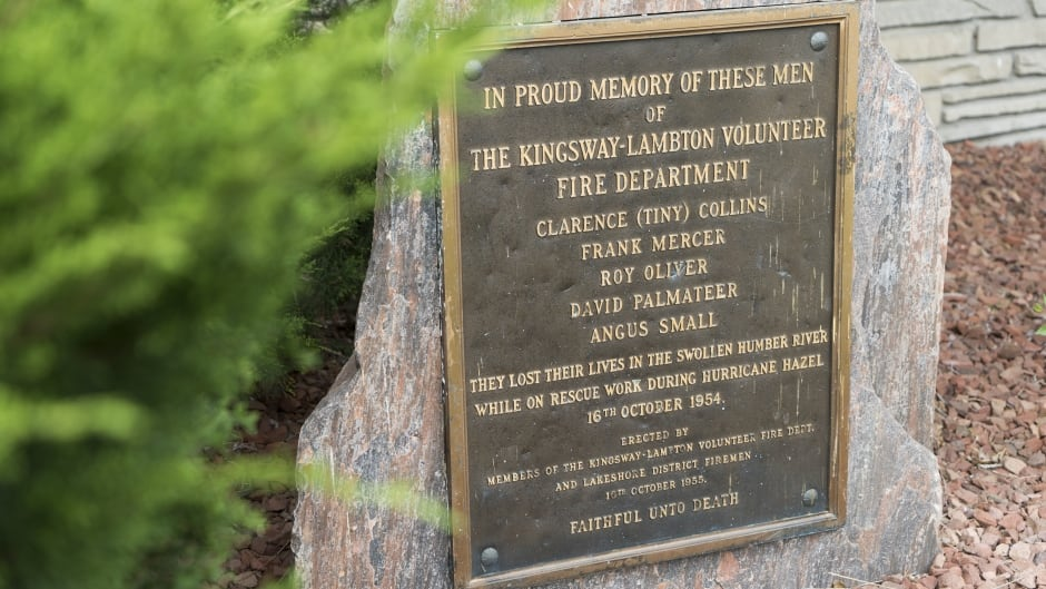 Plaque for firefighters