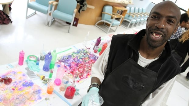 Delroy Flowers attends art classes regularly at the Centre for Addiction and Mental Health in Toronto.