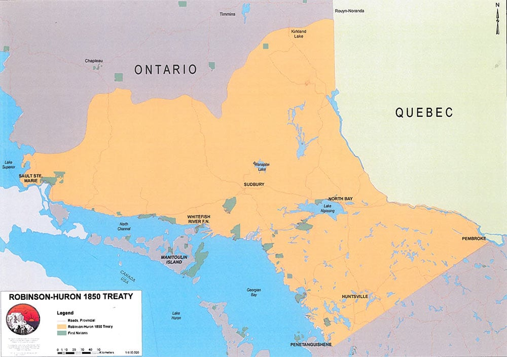 Map Of Canada In 1850.Treaty Annuity Case A Historical Landmark For Ontario First