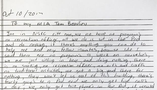 NSCC prisoner letter