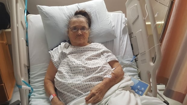 Sandra Jones, 68, has been waiting for days in hospital at Health Sciences Centre for a skin graft to close a wound left by an earlier surgery. That procedure has been scheduled, and cancelled, nine times.