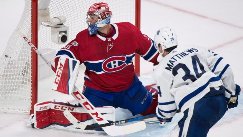 Matthews Pots Ot Winner As Leafs End 14 Game Winless Run Against Habs Cbc Sports