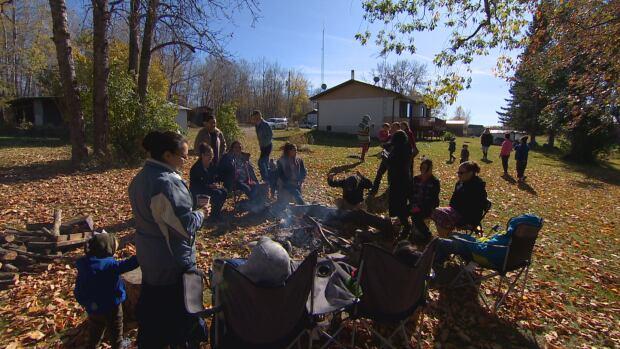 Noskiye family gathering bonfire
