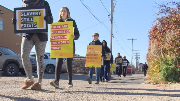 The fourth annual Walk For Freedom took place in Regina on Saturday.
