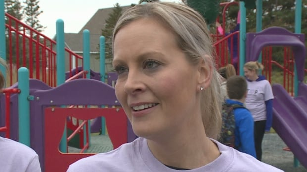 Andrea Gosse attends the opening of a second playground named for her late daugher, Quinn Butt.