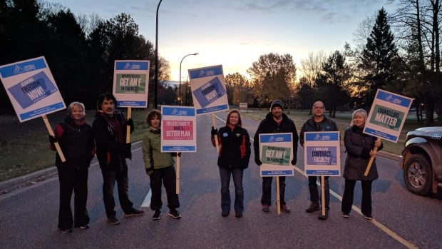 Faculty on the picket line in the strike against Ontario's 24 colleges