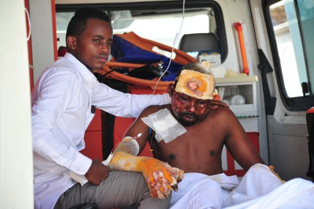 Mogadishu hospitals overwhelmed by casualties after truck bombing