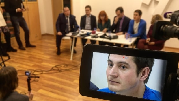 Maxim Lapunov is the first Russian man to publicly identify himself as being targeted in Chechnya's 'gay purge.' He told a news conference in Moscow that when he was seized, 'one part of the jail cell was already blood-soaked.'
