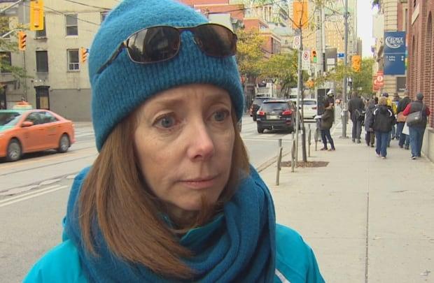Carolyn Dobbyn on strike at George Brown College
