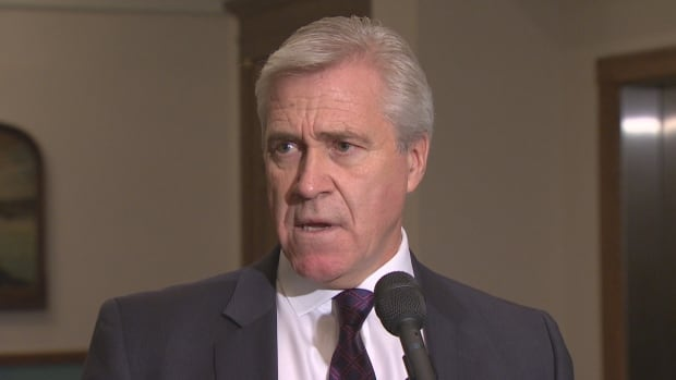 Newfoundland and Labrador Premier Dwight Ball answered questions from reporters outside the House of Assembly in St. John's Monday. The premier stressed that he is open to changing the law governing Nalcor Energy, if it's necessary to increase transparency at the Crown corporation.