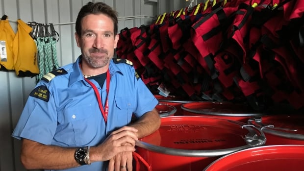 Geoff Carrow, a search and rescue program officer for the Canadian Coast Guard, is helping to distribute emergency response supplies to Indigenous communities.