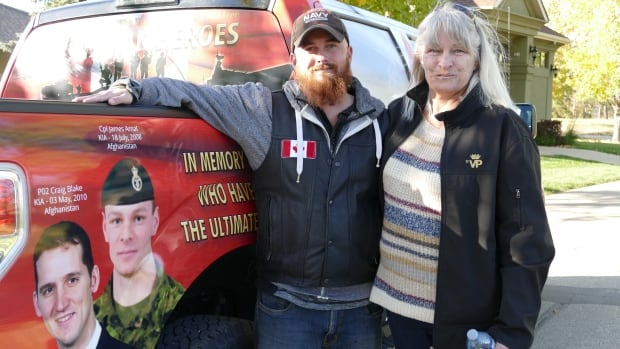 Wendy Hayward says her son James Arnal would be 'tickled pink' to see Scott Stroh's tribute truck.