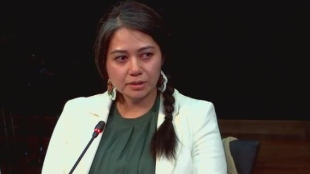 Natasia Mukash told Quebec's inquiry into the treatment of Indigenous people about the racism she encountered at the Val-d'Or hospital 10 days after a miscarriage.