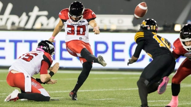 Calgary Stampeders kicker Rene Paredes hit a game-winning field goal with no time left on the clock against the Hamilton Tiger Cats to maintain the White Stallions' winning streak.
