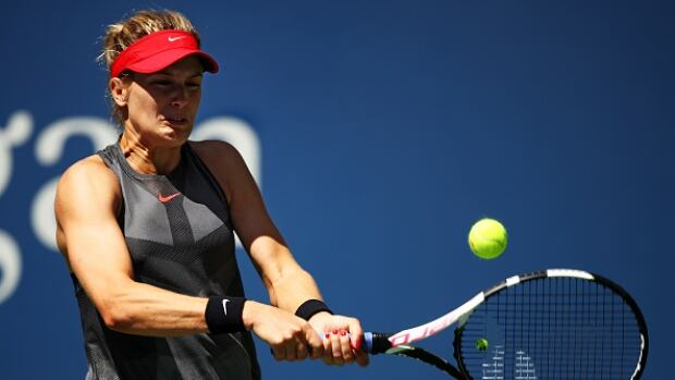 Eugenie Bouchard, pictured here at August's U.S. Open, bowed out in the first round of the Luxembourg Open in three sets to Johanna Larson Tuesday.