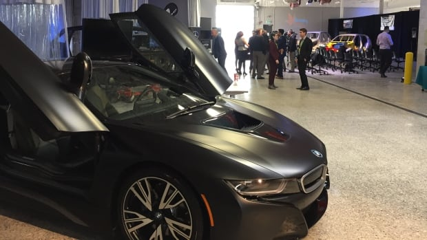 A collection of new and older vehicles and technologies are on display at the opening of Winnipeg's new automotive research and training centre on Tuesday.