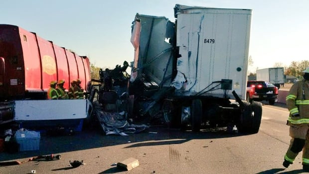 A significant diesel spill will keep westbound lanes of Highway 401 at Guelph Line closed throughout Tuesday afternoon.