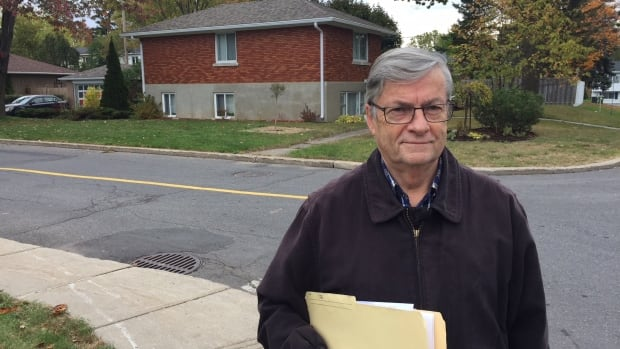 André Laniel's house straddles two Montreal boroughs.  He pays taxes in both, but he's only allowed to vote in one.