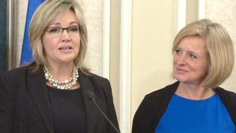 Sandra Jansen and Rachel Notley
