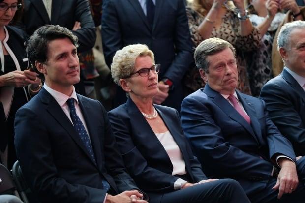 Trudeau, Wynne and Tory