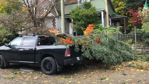 BC Hydro says as many as 120,000 people across the province were without power after a massive windstorm on Tuesday.