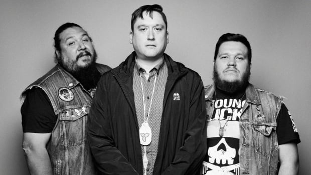 A Tribe Called Red's Ian Campeau (centre) is leaving the band, he announced on Tuesday.