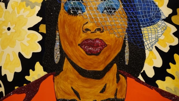 This gift to the gallery is the work of American artist Mickalene Thomas.