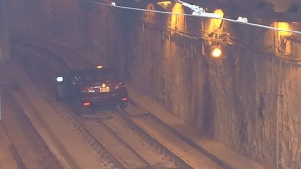 Vehicle stuck in the Queen's Quay streetcar tunnel delayed transit riders for about an hour Wednesday morning.