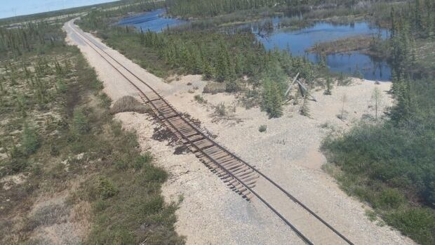 Five months have passed since a flood damaged the rail line to Churchill but no repairs have been done.