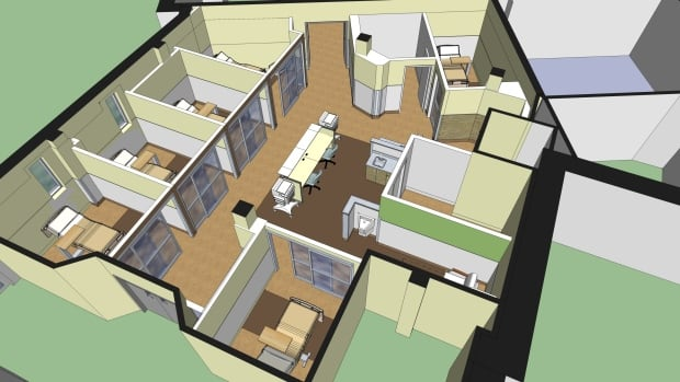 An artist's rendering of Royal University Hospital's new seven-bed mental health assessment unit. Construction begins this month.