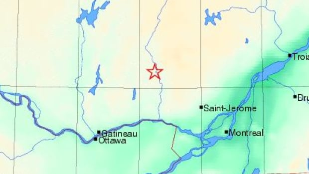 The earthquake could be 'lightly felt' in Labelle, Que., northwest of Montreal.