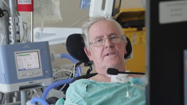 Paul Benson is living in the ICU at Joseph Brant hospital while he waits for a place to become available in a long-term care home that can support a ventilator.