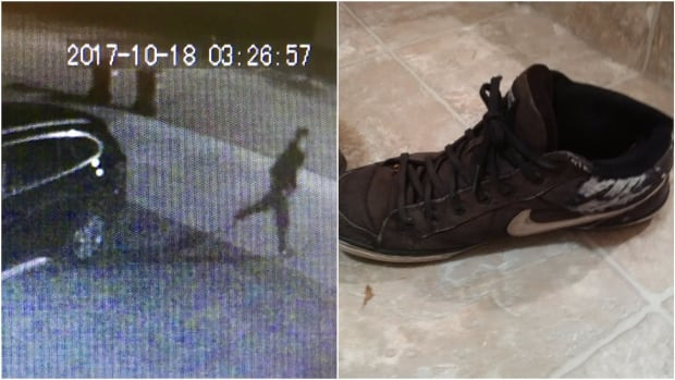 Police say the suspect is a white man, about five feet six inches tall, with short hair and a slim build. He left his shoes behind.