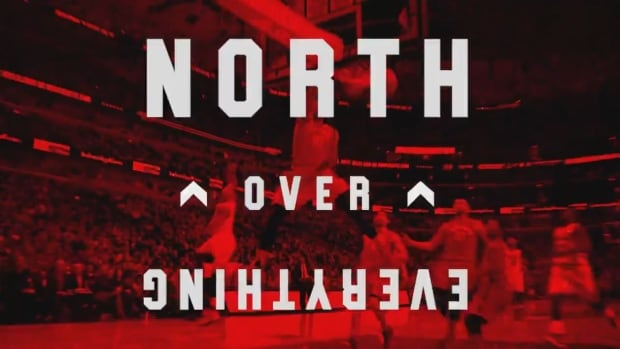 The Toronto Raptors revealed their new slogan, 'North Over Everything,' ahead of Thursday's season opener.