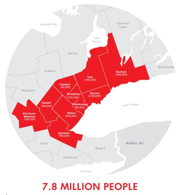 Toronto Region map