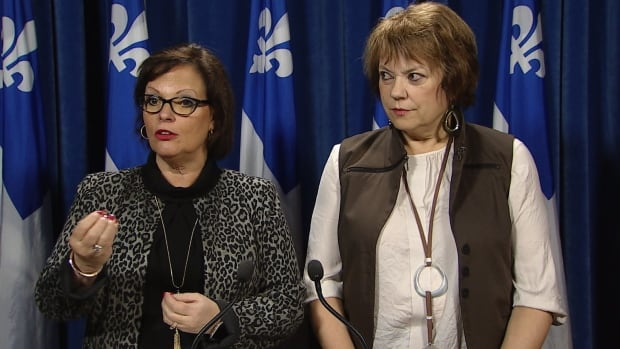 Lucie Charlebois, minister responsible for youth protection and public health, and Hélène David, minister responsible for the status of women, announced $1 million in new money for sexual assault centres Thursday.