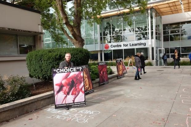 Okanagan College anti-abortion protest