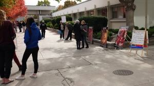 Anti-abortion protest sparks debate at B.C. college