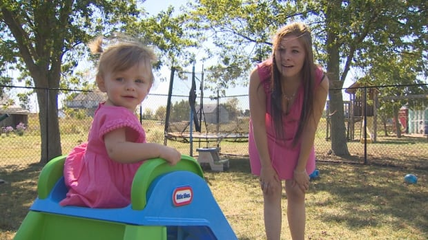 Emma, now 13 months, is recovering from neonatal abstinence syndrome (NAS), the result of her mother's use of opioids.