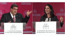 Denis Coderre, Valerie Plante - French debate