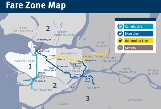 TransLink zones