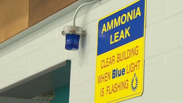 arena ammonia leak light