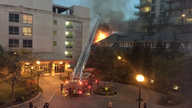 TTC buses were deployed to shelter residents forced out of their homes due to the fire near Palace Pier Court and Marine Parade Drive.