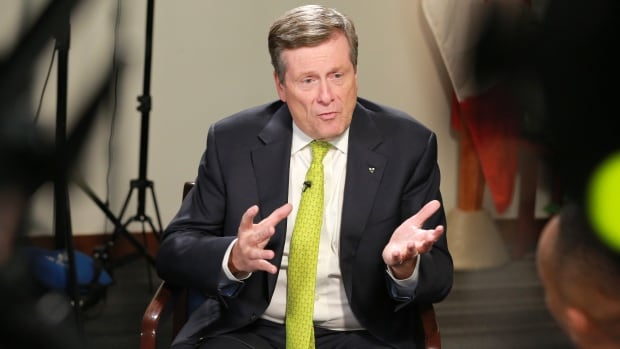 Mayor John Tory says he wants to focus on getting things done, not the next election.