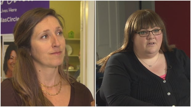 Jill Peckford (left) and Melendy Muise are celebrating 30 years of the Naomi Centre in St. John's helping young women in crisis.