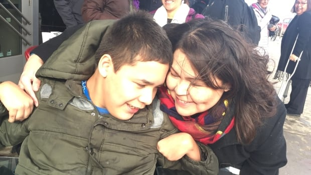 Noah Buffalo-Jackson, 15, lives with cerebral palsy and is wheelchair-bound. His mom Carolyn Buffalo has been fighting for transportation to get him to school for 11 years.