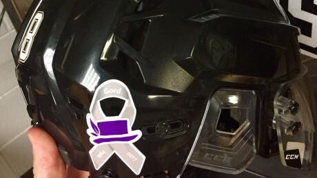 Gord Downie hockey helmet