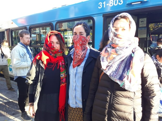 Bill 62 bus protest